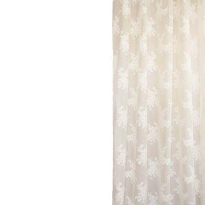 Κουρτίνα Δαντέλα Classic λευκή με τρέσα