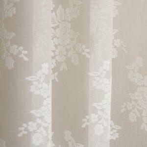Κουρτίνα Δαντέλα Classic λευκή με τρουκ