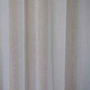 Κουρτίνα λεπτή Doll λευκή με τρουκ