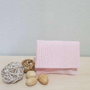 υφασμάτινος φάκελος πουά ροζ