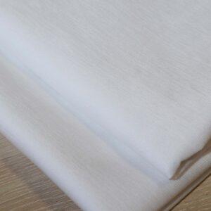 επίστρωμα μονό με λάστιχο λευκό