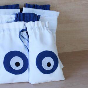 Decocraft - Υφασμάτινο πουγκί μάτι λευκό