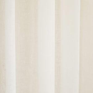 Κουρτίνα Γάζα μονόχρωμη λευκή με τρέσα