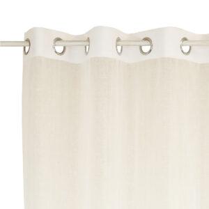 Κουρτίνα Γάζα μονόχρωμη λευκή