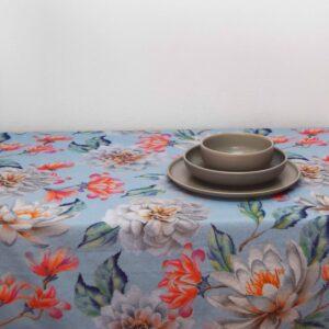 Τραπεζομάντηλο 160x260 Elise Flower μπλε