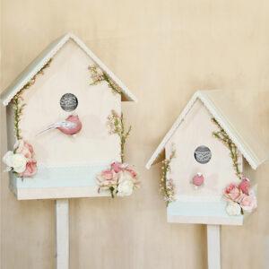 Διακόσμηση Βάπτισης BirdsHouse ροζ