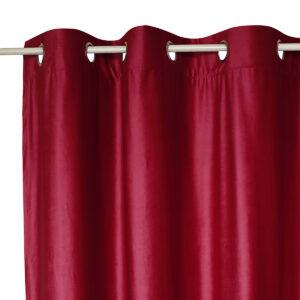 Κουρτίνα 140x260 Velour μπορντό με τρουκ