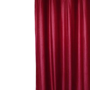 Κουρτίνα 140x270 Velour μπορντό με τρέσα
