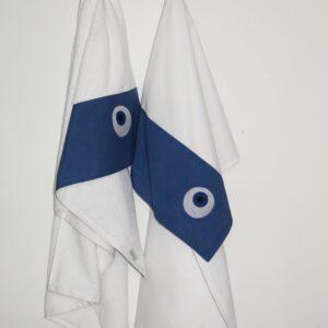 Λαδόπανα βάπτισης Μάτι μπλε 3τεμαχίων