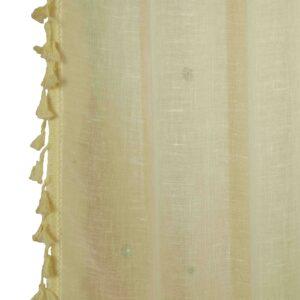 Κουρτίνα Γάζα Linenlook 140x270 Boho cream με τρέσα