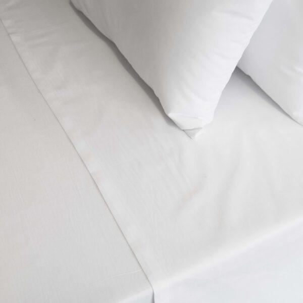 Σεντόνι μονό λευκό Polycotton
