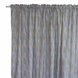 Κουρτίνα Λονέτα Watercolor Stripe blue 280x240 με τρέσα