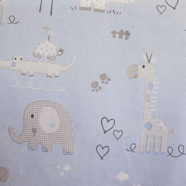 Κουρτίνα Λονέτα Παιδική Animals μπλε 140Χ270 με τρέσα