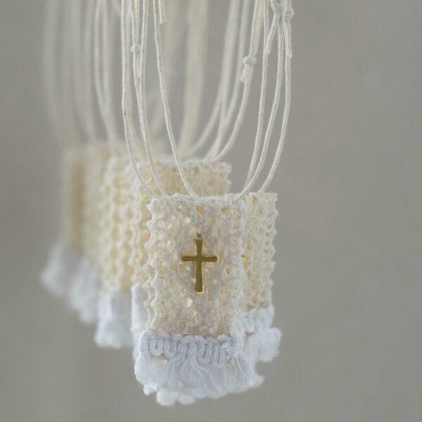 Μαρτυρικά βάπτισης Πλεκτό κρεμαστό staros