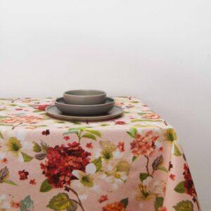 Τραπεζομάντηλο 140Χ140 Floral Flower σομόν