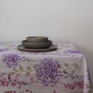 Τραπεζομάντηλο 140Χ180 Λονέτα Lilly Flower λιλά