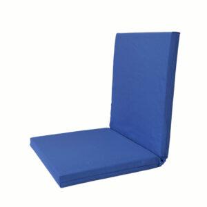 Μαξιλάρι βεράντας Basic μπλε 45Χ110Χ5 με πλάτη & φερμουάρ