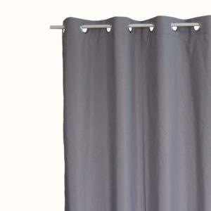 Κουρτίνα Λονέτα Basic γκρι 140x260 με τρουκ