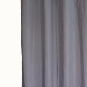 Κουρτίνα Λονέτα Basic γκρι 140x270 με τρέσα
