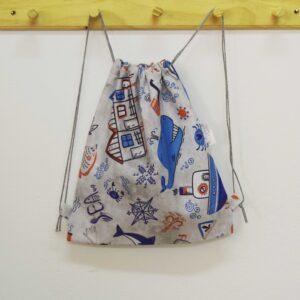 Υφασμάτινο σακίδιο Faros μπλε