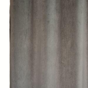 Κουρτίνα Βελούδο Velour μπεζ 145x240 με τρέσα
