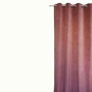 Κουρτίνα Βελούδο Velour σομόν 145x240 με τρουκ