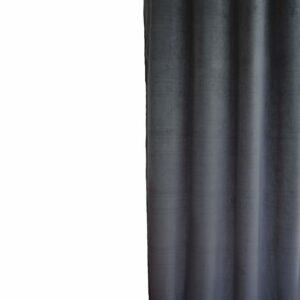 Κουρτίνα Βελούδο Velour ανθρακί 145x240 με τρέσα