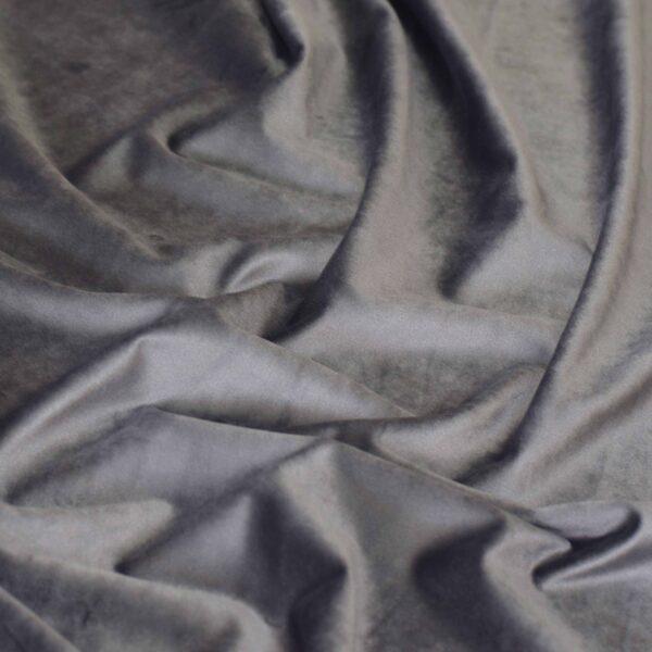 Ύφασμα Βελούδο Velour ανθρακί Φ150