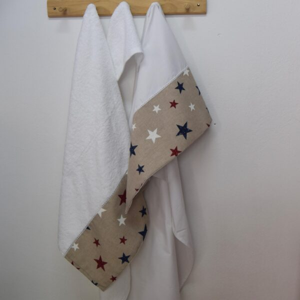 Λαδόπανα βάπτισης Star κόκκινο σετ 3τεμαχίων